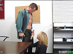 Schoolgirl acquires a stormy hardcore fuck from her teacher