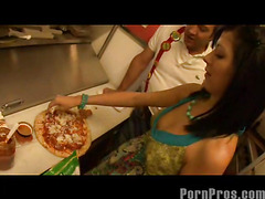 Smokin' hawt and very taut 18 year old Kenna Kane needs to earn a not many supplementary bucks to go to college. So that sweetheart got a job at a pizza parlor and receives her tips blowing her manager's sausage! No Thing like pounding greater amount than just dough in the kitchen...