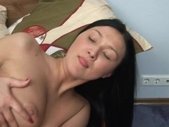 Fellow is using his juicy throat and hard shlong to team fuck sexy babe