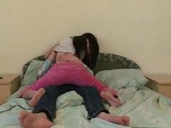Horny dark brown organizes vehement sex session on the sofa