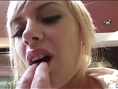 A college beauty eventually dares riding a biggest cock