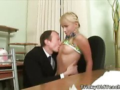 Juvenile playful student pulls the panties off her teacher and begins sweet his ever hard dong