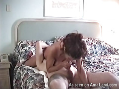 Longhaired completely naked hotty is playing with her holes