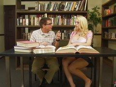 We all know that Kagney Linn Karter isn't a model student.  All that playgirl craves to do is receive some hard dick betwixt her legs.  That Sweetheart tells her study boy-friend here that that playgirl doesn't wish to do homework, just fuck and engulf, then let the cum leak out and onto her books.