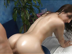 Hot 18 year old gril acquires screwed hard from behind by her massage therapist