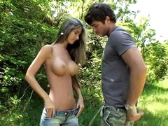 Breasty hawt hotty getting drilled in her taut cum-hole by large pecker
